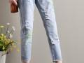 加大加肥女式牛仔裤批发 品牌原单牛仔裤外贸休闲牛仔裤批发