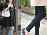 韩国孕妇打底裤孕妇托腹裤 春夏装新款 时尚三朵小花真正厂家批发