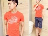 批发男式短袖T恤 高质量韩版纯棉半袖t恤