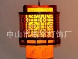 中式古典实木吊灯走廊过道餐厅圆形吊灯饰创