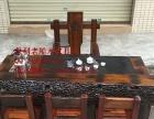 宿州市老船木家具茶桌椅子沙发茶台茶几办公桌餐桌鱼缸置物架案台