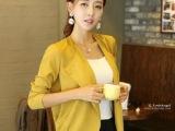 2014秋装新款韩国代购百搭开衫小披肩雪纺女短外套长袖薄款外套