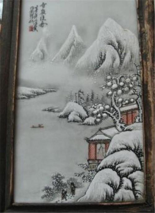 王跃祖瓷板画哪里能鉴定真假