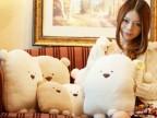 玩具批发方熊抱枕靠垫方熊手捂 暖手筒抱枕捂手卡通暖手抱枕