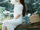 淘宝爆款【实拍现货】2015秋夏新款蕾丝上衣+鱼尾裙两件套连衣裙