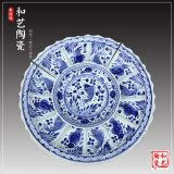 景德镇白色瓷盘厂家定做酒楼陶瓷超大盘子定制海鲜大盘菜瓷盘