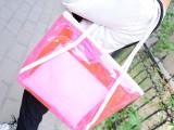 低价包2014新款潮韩版水晶单肩女包沙滩包糖果色透明包包