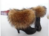 超大狐狸貉子毛袖口毛条 皮草毛毛靴套 鞋口毛毛 皮草雪地靴专用