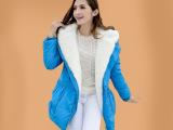 卡西玫正品2013新款大毛领韩版白鹅绒羽绒服女装羽绒衣修身外套潮