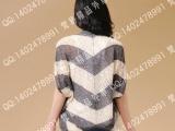 2013欧美原单新品女装 空调针织撞色罩