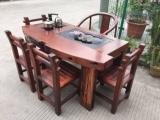 老船木龙骨茶台 船木石槽多功能茶台 船木茶几船木茶桌现货