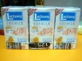 批发泰国原装进口食品Lactasoy力大狮高钙低糖豆奶