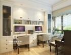 上海全屋定制实木玛格书房 玛格利用客厅墙面设计储物空间书房