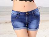 2015夏季新款显瘦卷边热裤薄大码裤子韩版牛仔短裤