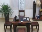 海北老船木茶桌批发船木仿古茶桌茶台茶桌组合家具