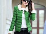 2014冬装新款韩版修身轻薄羊羔毛棉衣女短款冬装外套棉衣小棉袄潮