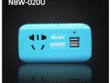 能博文020带USB无线插座电源扩展转换插头便携一转多插国标三插