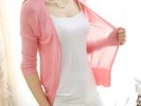 尚依玛 女装超薄款七分袖  针织开衫空调防晒小披肩外套短款