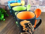 外贸陶瓷 爆款典雅创意马克杯 咖啡杯 个性牛奶杯