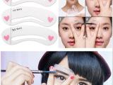 韩国爱丽小屋同款眉形 画眉卡 印眉卡 一字平眉 化妆工具厂家直销
