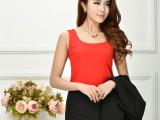 2014新款双层网纱背心 吊带 修身薄款打底衫纯色锦纶哥弟款