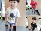 3元童装纯棉儿童T恤纯棉短袖韩版卡通宝宝上衣女童打底衫夏款