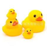 小号鸭子洗澡玩具 批发正版香港大黄鸭  搪胶戏水儿童玩具批发