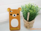 Rilakkuma懒懒熊iphone 4立体耳朵 轻松小熊 硅胶保护套 tpu外