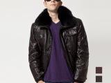 月龙羽绒服90%绒 男式韩版亮面毛领保暖1122