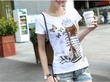5.3块女装韩版白色奶丝短袖T恤 统一面料 无次品