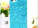 新款 iphone5 立体浮雕 玫瑰花手机壳 手机保护壳