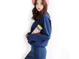 2013秋冬新款韩版进口绒料长袖卫衣连衣裙包臀大码女裙子套装