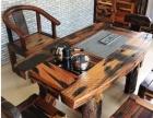 老船木茶桌实木功夫茶几原生态仿古桌椅组合茶台厂家直销