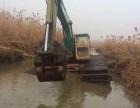 中国厦工215型湿地挖掘机出租水上挖掘机租赁经营东菀市清溪镇