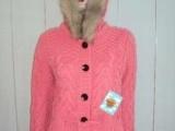 棒针毛衣外套,女式开衫毛衣,中长款带腰带