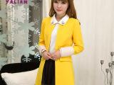 2014秋冬新款女装风衣 高端时尚女装外套风衣 韩国原单大牌风衣