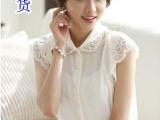 新款夏装韩版女装时尚大码百搭显瘦新款雪纺衫短袖t恤女宽松短袖