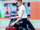欧洲站套装女夏名媛小香风衬衫印花半身裙两件套连衣裙