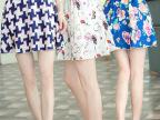 夏季半身裙子波点百褶裙蓬蓬裙大码碎花雪纺短裙裤松紧腰女