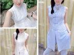 欧洲站女装新款中国民族风蕾丝上衣+裤子套装(现货)4905