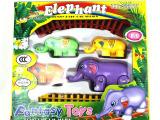 儿童电动玩具玩具大象拉小象电动轨道玩具小象一家人益智地摊玩具