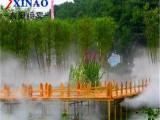 户外喷雾造景设备 小区花园喷雾除尘造景系统