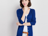 厂家直销秋冬新款针织衫 韩版中长款披肩开衫 女式防晒空调衫 薄