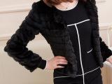 2014春秋装欧美时尚仿皮草超有范纯色毛毛长袖修身短款小外套批发