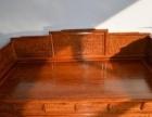 红木罗汉床刺猬紫檀