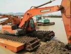白沙县元门镇德国沃尔沃200水陆两用挖机租赁清淤机械设备出租