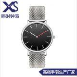 男士休闲手表 不锈钢超薄织带手表 客人要求订制高档简约手表