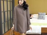 孕妇装 韩版秋冬长款女装打底厚针织纯色高领孕妇毛衣0022#