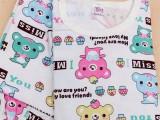 现货供应 纯棉针织儿童印花棉布料 婴儿卡通内衣布料服装面料