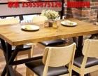 新款实木复古咖啡厅桌椅奶茶甜品店西餐厅酒吧桌椅餐厅餐桌椅直销